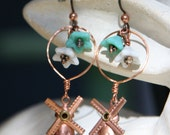 Windmills and Tulips earrings