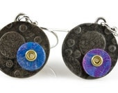 Starry Night Colorful Circles Sterling Silver Earrings
