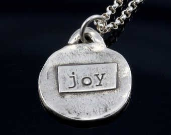 JOY pendant necklace in fine silver