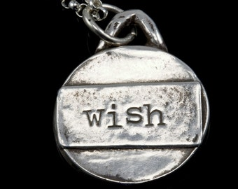 WISH pendant necklace in fine silver