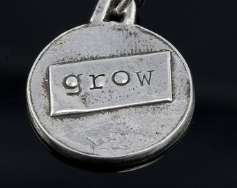 GROW pendant necklace in fine silver