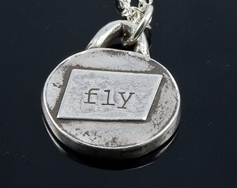 FLY pendant necklace in fine silver