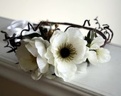 ANEMONE. black and white flower crown