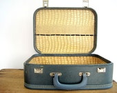 RESERVED FOR SHAUNA Vintage 60s Faux Alligator Suitcase Beauty School Briefcase