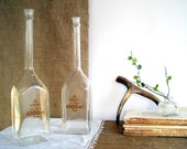 SALE Vintage Apothecary Lab Flasks Bottle / Industrial Home Decor
