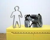 Tin Cookie Cutters Dog and Tin Man Farmhouse Figural