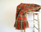 SALE Vintage Pendleton Picnic  Blanket / Derby Decor