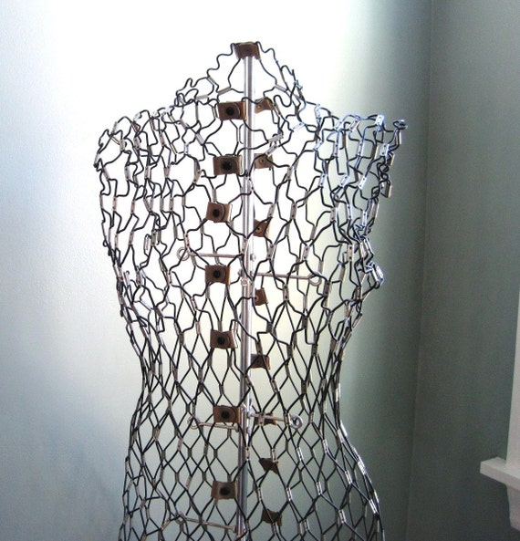 Wire Dress Form Complete with Stand