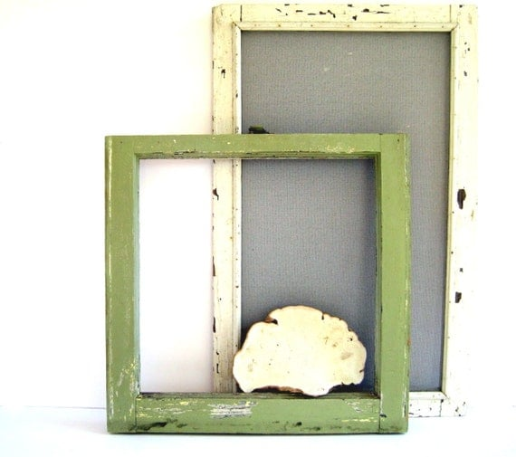 Vintage Window Frame / Industrial Decor / Architectural Salvage