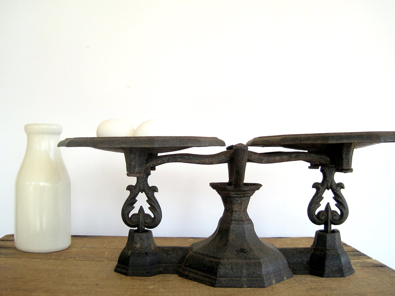 SALE Antique Cast Iron Balance Scales by BirdinHandVTG on Etsy
