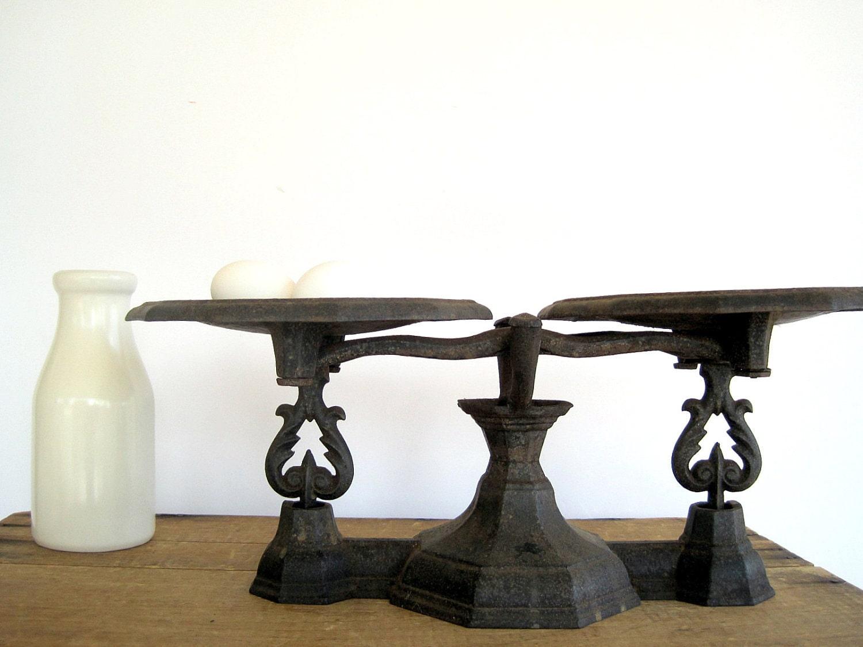 SALE Antique Cast Iron Balance Scales Industrial Home Decor