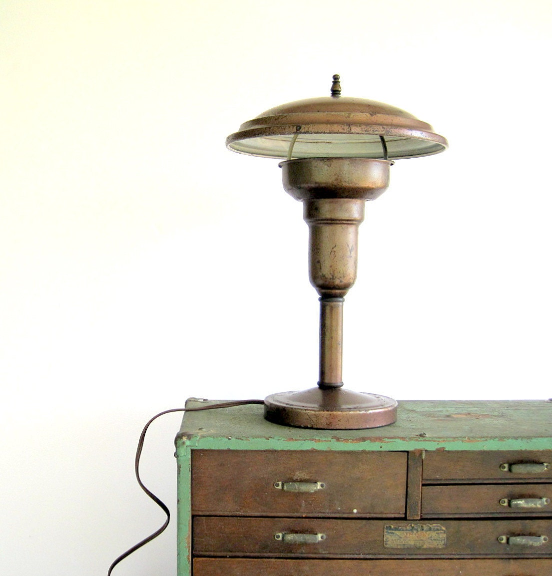 Vintage Industrial Lighting Flying Saucer Table Desk Lamp