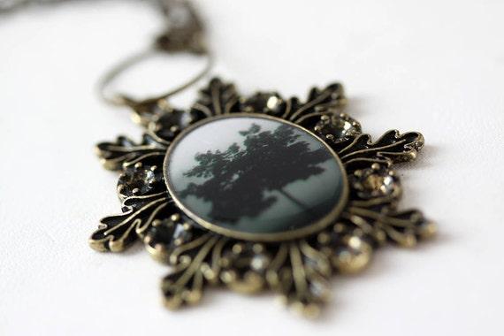 Tree Necklace nature Photo Jewelry original photography holiday christmas
