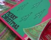 O Christmas Tree plus three mini notecards