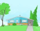 Custom Little House Illustration