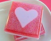 Girlfriend Gift, Wife Gift. Sister. SOAP. Love You Soap, Hearts, Pink Sugar, Featured on Tori Spelling EdiTORIal, I love you gift, Mom Gift