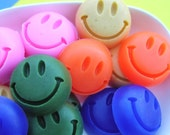 Mini Soaps, Smiley Face, Happy gifts, Kids Stocking Stuffer, Smile, Be Happy, Thinking of You Gift, Party Favors, Colorful, Children Gifts