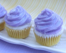 Cupcake Soap. Cotton Candy. Food Soap. Girls Stocking Stuffer. Purple. Gifts for Her. Girls Birthday Party Favors. Teen Girl Gifts