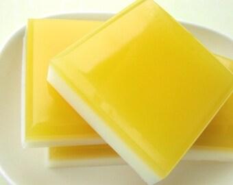 Soap. Lemon Soap. LEMON SQUARES Bar Soap. tart lemons with hint of pie. food soap, kitchen, dessert, Hostess party favors, Gift for the Cook