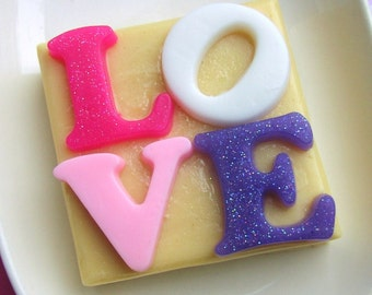 Gift for Her. Womens Gift. Mom Gift. LOVE Soap, Gifts for Mom, Gift for Mother, For Mom, Love you Message in Soap