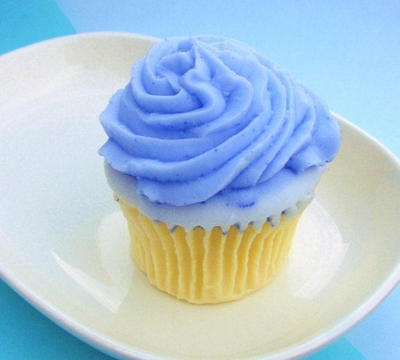 Teacher Gift. Cupcake Soap. Birthday Favor. Birthday Gift. Gift for Her, Blueberry Cupcake Soap, Realistic, Sweet Treat, Cupcake Favors