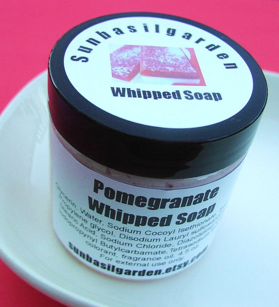 Whipped Soap - Pomegranate Scented - 4.5 oz jar - SALE - last one