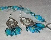 Aqua Mystique - Bracelet and Earring Set -