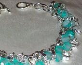 Green Cluster Bracelet - RESERVED for Mareeka