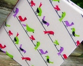 Soft Cover Notebook - birds on wire