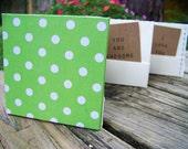 Pocket Accordion Book - green dots