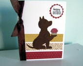 Happy Birthday Card - Cupcake Dog - 10 percent to SOAR charity
