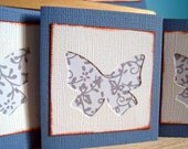 Five Butterfly Mini Giftcards or Notecards