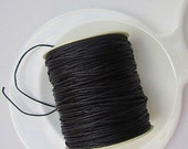 Waxed Black Cotton Cord 1.5mm x 12 feet