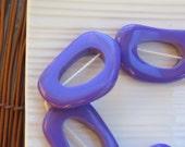 Purple Resin Bedrock Donuts x 3