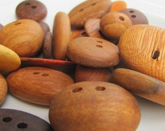 Australian Recycled Wood Buttons x 5
