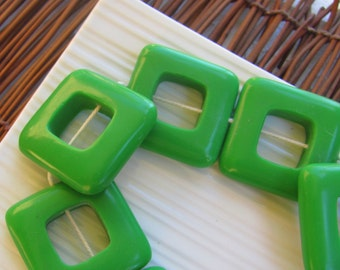 Green Square Resin Donuts x 3