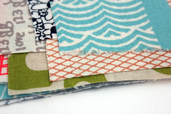 mixed Trimmings Pack hand screen printed fabric
