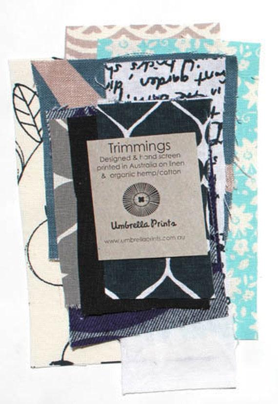 cool Trimmings Pack hand screen printed fabric