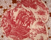 Pot Holders Red Toile Kitchen Accessories
