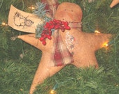 Primitive Snowman Star Decoration
