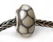 Silver Python - Bracelet bead with sterling silver core