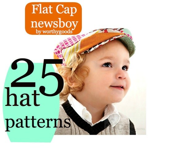 Hat Sewing Pattern - 25 Hat Patterns - Hat Shop - Baby Kids Womens Mens Newsboy Rain Fascinator Sunhat Cloche Bonnet Visor