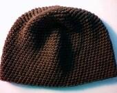 Chocolate Brown Cotton Tight Stitch Beanie