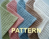 Waffle Crochet Spa Washcloth PDF Pattern, OK to sell finished items