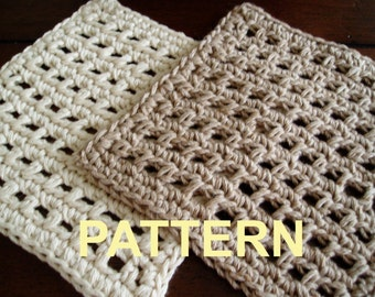 SPRING CLEANING - Waffle Crochet  Dishcloth PDF Pattern, Ok to sell finished items