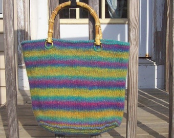 Watercolors Knitted and Felted Bag