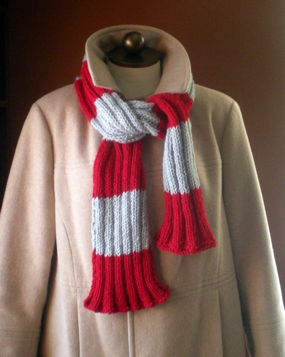 Buckeye Nation Knitted Ribbed Scarf