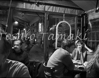In the Cafe around Midnight in Montparnasse, Paris