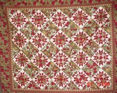 Quilt-  Folk Art Christmas , 69x82 large throw or lap