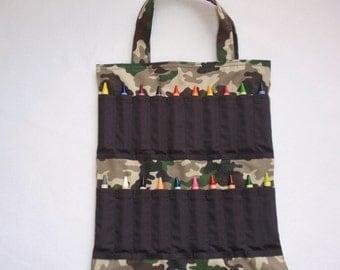 Camouflage Crayon Tote Bag